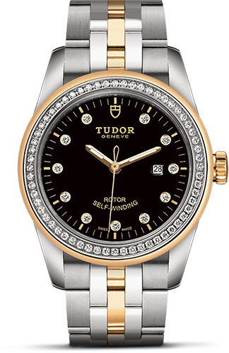Tudor Watches - Glamour Date 31 mm - Steel and Gold - Dia Bezel - Bracelet - Style No: M53023-0017