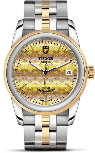 Tudor Watches - Glamour Date 36 mm - Steel and Gold - Bracelet - Style No: M55003-0003