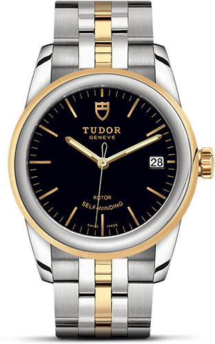 Tudor Watches - Glamour Date 36 mm - Steel and Gold - Bracelet - Style No: M55003-0007