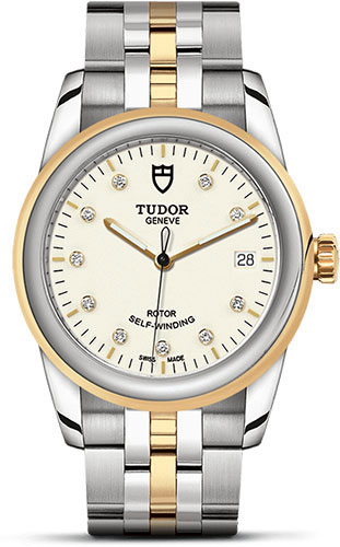 Tudor Watches - Glamour Date 36 mm - Steel and Gold - Bracelet - Style No: M55003-0083