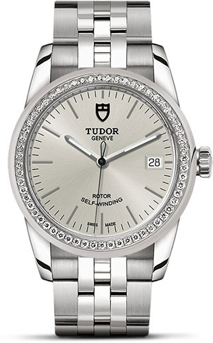 Tudor Watches - Glamour Date 36 mm - Steel - Dia Bezel - Bracelet - Style No: M55020-0004