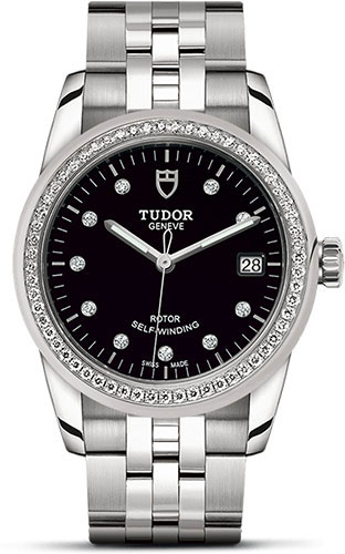 Tudor Watches - Glamour Date 36 mm - Steel - Dia Bezel - Bracelet - Style No: M55020-0007