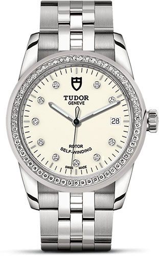 Tudor Watches - Glamour Date 36 mm - Steel - Dia Bezel - Bracelet - Style No: M55020-0096
