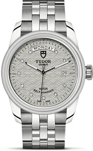 Tudor Watches - Glamour Date and Day 39 mm - Steel - Bracelet - Style No: M56000-0004