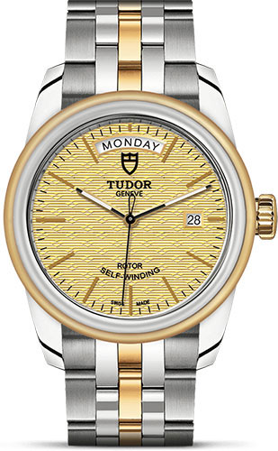 Tudor Watches - Glamour Date and Day 39 mm - Steel and Gold - Bracelet - Style No: M56003-0003