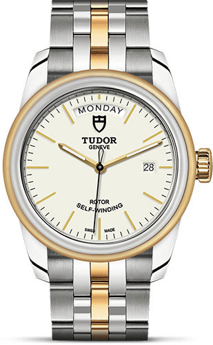 Tudor Watches - Glamour Date and Day 39 mm - Steel and Gold - Bracelet - Style No: M56003-0112
