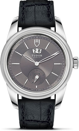 Tudor Watches - Glamour Double Date 42 mm - Steel - Leather Strap - Style No: M57000-0037