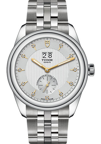 Tudor Watches - Glamour Double Date 42 mm - Steel - Bracelet - Style No: M57100-0005