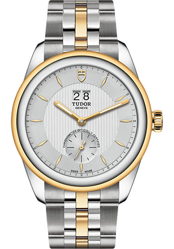 Tudor Watches - Glamour Double Date 42 mm - Steel and Gold - Bracelet - Style No: M57103-0001