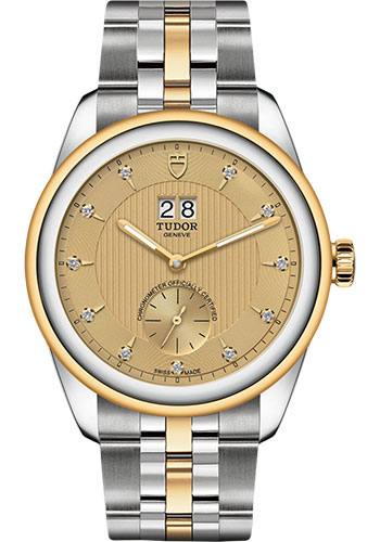 Tudor Watches - Glamour Double Date 42 mm - Steel and Gold - Bracelet - Style No: M57103-0006
