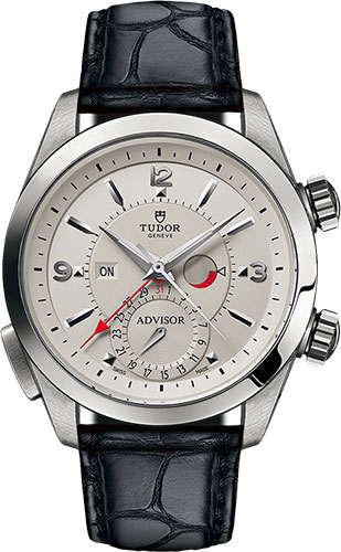 Tudor Watches - Heritage Advisor 42 mm - Steel - Leather Strap - Style No: M79620T-0011