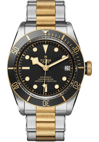 Tudor Watches - Black Bay Steel and Gold - Style No: M79733N-0002