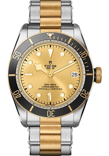 Tudor Watches - Black Bay Steel and Gold - Style No: M79733N-0004