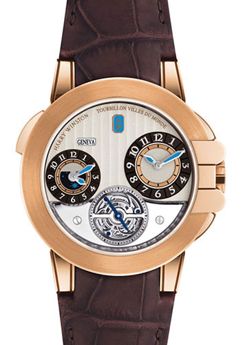 Harry Winston Watches - Ocean Collection Tourbillon GMT - Style No: OCEATG45RR001