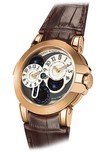 Harry Winston Watches - Ocean Collection Dual Time - Style No: OCEATZ44RR001