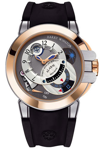 Harry Winston Watches - Ocean Collection Excenter Alarm - Style No: OCEMAL44RZ001