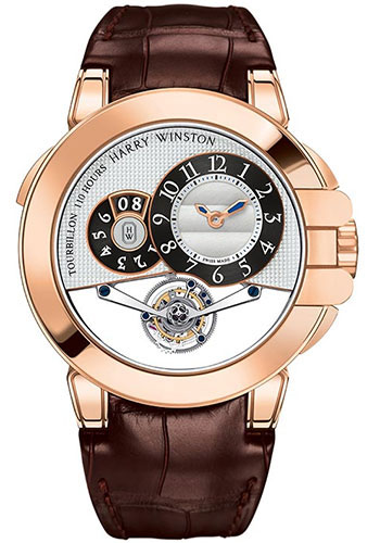 Harry Winston Watches - Ocean Tourbillon Big Date Rose Gold - Style No: OCEMTD45RR001