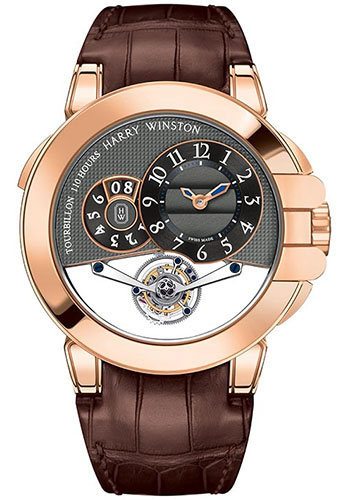 Harry Winston Watches - Ocean Tourbillon Big Date Rose Gold - Style No: OCEMTD45RR002