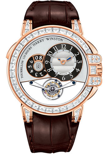 Harry Winston Watches - Ocean Tourbillon Big Date Rose Gold - Style No: OCEMTD45RR003