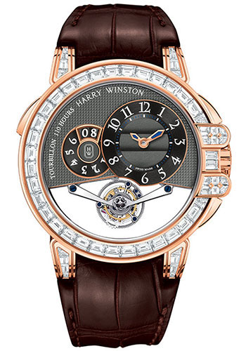 Harry Winston Watches - Ocean Tourbillon Big Date Rose Gold - Style No: OCEMTD45RR004