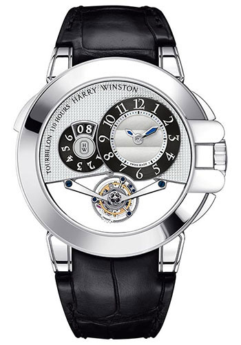 Harry Winston Watches - Ocean Tourbillon Big Date White Gold - Style No: OCEMTD45WW001