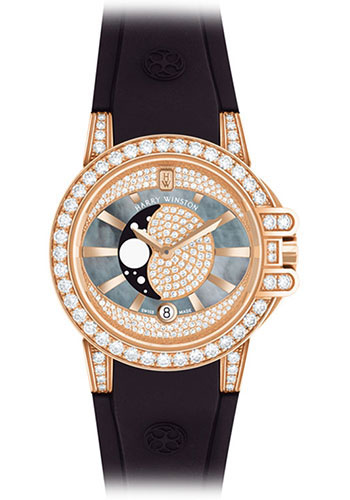 Harry Winston Watches - Ocean Collection Lady Moon Phase - Style No: OCEQMP36RR001