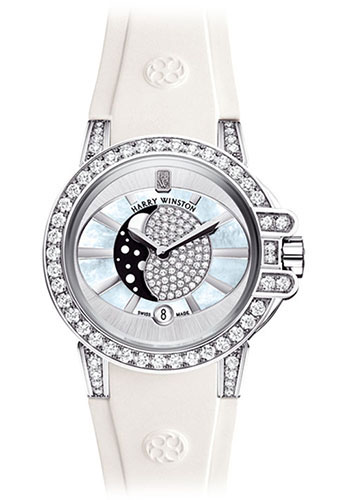 Harry Winston Watches - Ocean Collection Lady Moon Phase - Style No: OCEQMP36WW003