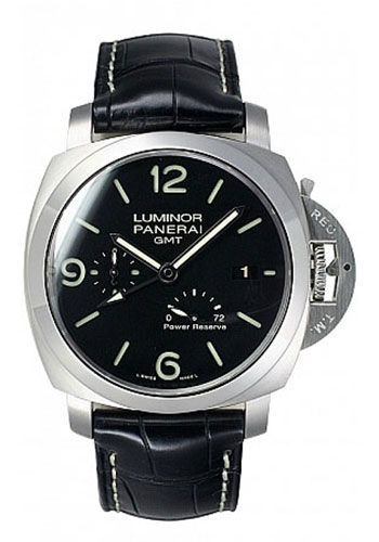 leather dial watches panerai chronograph men black automatic watch paneraiwatches luminor s jomashop