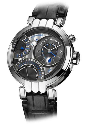 Harry Winston Watches - Premier Collection Excenter Perpetual Calendar 2010 - Style No: PREAPC41WW014