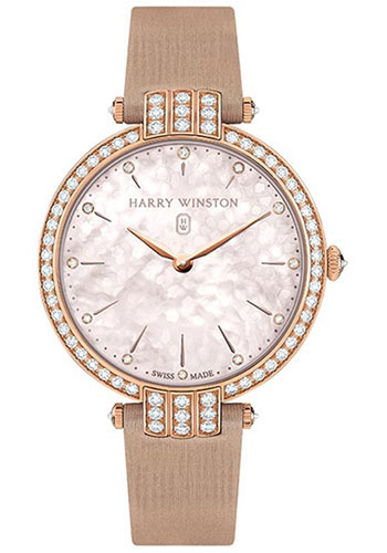 Harry Winston Watches - Premier Collection Ladies 36 mm Rose Gold - Style No: PRNQHM36RR001