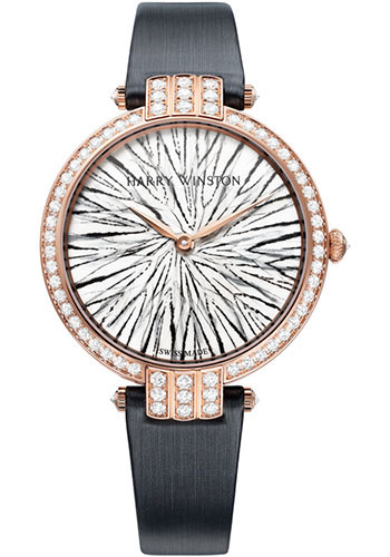 Harry Winston Watches - Premier Collection Feathers Rose Gold - Style No: PRNQHM36RR004