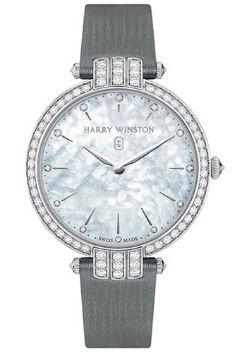 Harry Winston Watches - Premier Collection Ladies 36 mm White Gold - Style No: PRNQHM36WW001