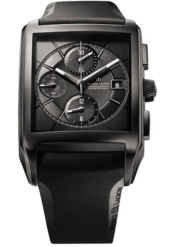 Maurice Lacroix Watches - Pontos Rectangulaire Chronographe Full Black - Style No: PT6197-SS001-331