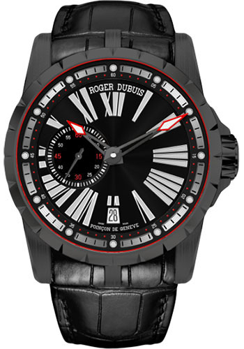 Roger Dubuis Watches - Excalibur 45 Automatic With Date and Micro-Rotor - DLC Titanium - Style No: RDDBEX0542