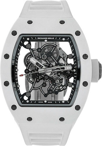 Richard Mille Watches - RM 055 Bubba Watson White Ceramic - Style No: RM-055