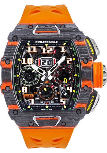 Richard Mille Watches - RM 011-03 McLaren Carbon TPT Automatic Flyback Chronograph - Style No: RM 011-03