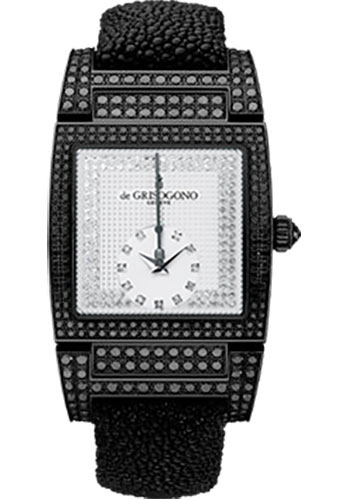 de Grisogono Watches - Uno Grande Seconde Blackened White Gold - Style No: UNO GS S02
