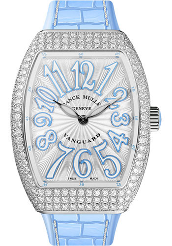 Franck Muller Watches - Vanguard Quartz - V 32 - Stainless Steel - Dia Case - Style No: V 32 QZ D AC Blue