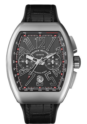 Franck Muller Watches - Vanguard Chronograph - V 45 - Stainless Steel - Style No: V 45 CC DT AC Black