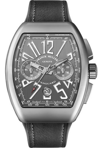 Franck Muller Watches - Vanguard Chronograph - V 45 - Stainless Steel - Style No: V 45 CC DT AC Gray