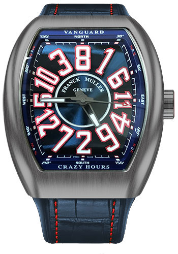 Franck Muller Watches - Vanguard Crazy Hours - V 45 - Titanium - Style No: V 45 CH TT BR AM RB L-W