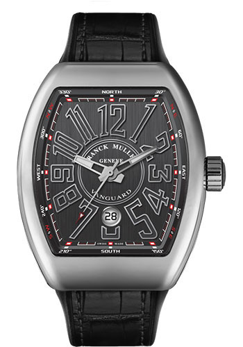 Franck Muller Watches - Vanguard Automatic - V 45 - Stainless Steel - Style No: V 45 SC DT AC Black