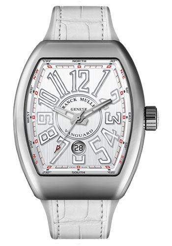 Franck Muller Watches - Vanguard Automatic - V 45 - Stainless Steel - Style No: V 45 SC DT AC White