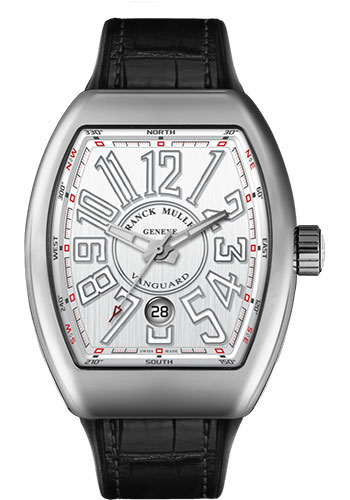 Franck Muller Watches - Vanguard Automatic - V 45 - Stainless Steel - Style No: V 45 SC DT AC White Black