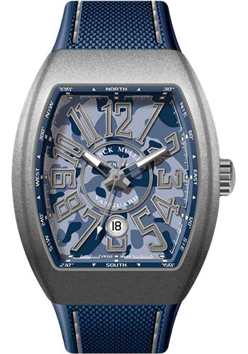 Franck Muller Watches - Vanguard Automatic - V 45 - Titanium - Style No: V 45 SC DT CAMOU MC BL AC
