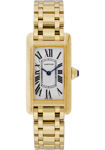 Cartier Watches - Tank Americaine Small - Yellow Gold - Style No: W26015K2