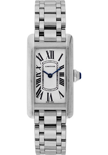 Cartier Watches - Tank Americaine Small - White Gold - Style No: W26019L1