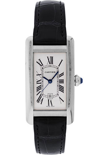 Cartier Watches - Tank Americaine Medium - White Gold - Style No: W2603656