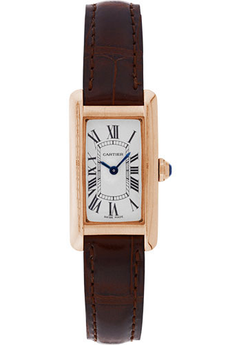 Cartier Watches - Tank Americaine Small - Pink Gold - Style No: W2607456