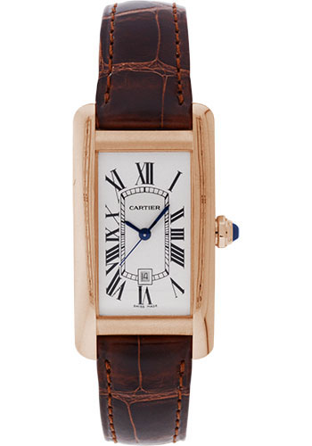 Cartier Watches - Tank Americaine Medium - Pink Gold - Style No: W2620030